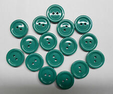 Lot of 16 Green New Sewing Buttons, 3/4 inch