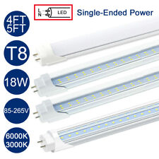 50x 4FT 5FT T8 LED Tube Light Replace Fluorescent Light Bulb Single-Ended Power