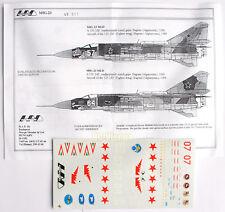 "HAD Mig-23 Decal Set 1/48 (Abziehbilder) ""NEW"" 48011"