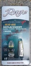 Rage Replacement Blades for 2 Blade Hypodermic +P and Ss 85 Broadheads