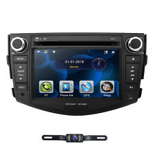 Double 2 Din Car Stereo DVD Player GPS Navi Radio +Cam for Toyota RAV4 2006-2012
