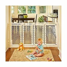In Door Swinging Wood Gate Baby Pet Safety Dog Wood 27in Tall 60in To 103in Wide