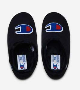 Mens Champion Logo Shuffle Slippers Shoes Black Blue Red White CPS10133M