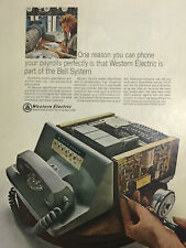 Western Electric Bell Telephone Magazine Print Ad Vintage Data Phone Tech 1966