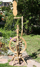 Antique RARE wooden spinning wheel, 19th century, rare type