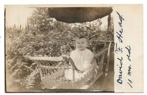 WA Washington Maltby Young Baby Child Carriage Snohomish County Postcard RPPC