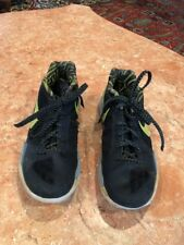 Men's NIKE ZOOM BLACK AND YELLOW FLYWIRE HIGH TOP SNEAKERS Size 9.5