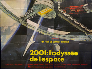 Rare 2001 SPACE ODYSSEY French 8 Panel Movie Poster 70sRR Sci-Fi Stanley Kubrick