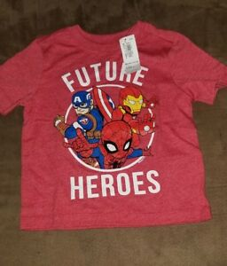 """NWT Marvel Comics Avengers Assemble """"Future Heroes"""" t-shirt size 12-18m Old Navy"""