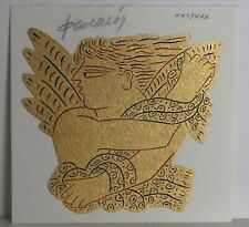 "RARE Gold Silkscreen print by Alekos Fassianos - ""Angel"" LIMITED to 30 ONLY"