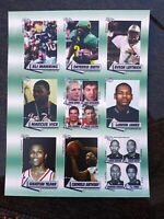 LEBRON JAMES ROOKIE CARD 2003 ROOKIE REVIEW UNCUT SHEET LEBRON JAMES ROOKIE NRMT