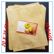 50 X STANDARD BROWN PAPER LUNCH BAGS - PARTY, EVENT, WEDDING, KIDS
