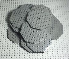 LEGO x15 Dark Bluish Gray Plate 10x10 Octagonal with Hole and Snapstud (#89523)
