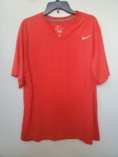 Nike Dri-Fit Activewear Shirt Mens Size Xl Pre-owned Red V-Neck