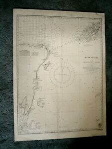 Vintage Admiralty Chart 1204 WEST INDIES - BELIZE to CABO CATOCHE 1915 edn