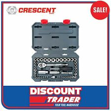 "Crescent 45 Piece 1/4"" & 3/8"" Dr 6 & 12 Pt SAE/Metric Socket Set - CSWS13"