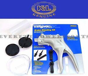 New Mity Vac Precision Hand Vacuum Pump Hydraulic Brake Clutch Bleeder Kit #P144