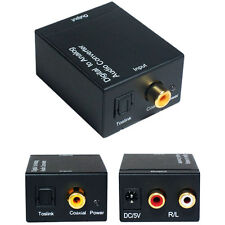 Digital Coaxial/Optical To 2 RCA/Phono Sound bar Converter Adapter SPDIF Cable
