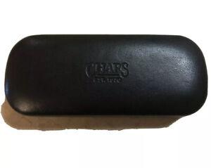 CHAPS EYEGLASSES Hard Case Clam Shell Pouch Eye Glasses Cover Travel Black