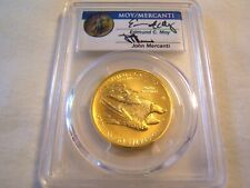 2015-W $100 Liberty High Relief gold PCGS MS70 First Strike Moy & Mercanti