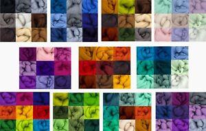 Merino Felting Wool for Needle & Wet Felting & Spinning - choice of pack/s