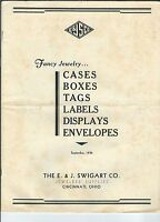 MG-026 - 1936 E&J Swigart Catalog of Fancy Jewelry Cases, Boxes, Tags, illustrat