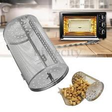 Rotisserie Grill Basket Stainless Steel For Oven Roaster Bean Peanut Roast BBQ
