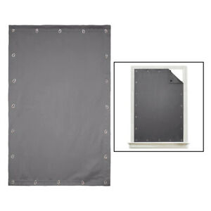 Blackout Blinds Curtain for Window Travel Portable Anti Sunlight Blind Gray