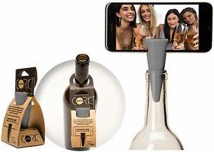 Selfie Cork Universal Bottle Stopper Monopod Handsfree for Photos & Videos, Gray