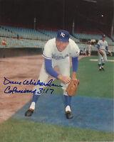 Dave Wickersham 1969 Kansas City Royals Signed Autographed 8x10 Photo COA