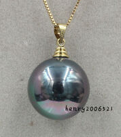 NOVEMBER 16 MM BLACK COLORFUL  SOUTHSEA MOTHER-OF SHELL PEARL PENDANT