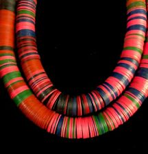 Strand Old Vintage Vinyl Disk Vulcanite Beads 12mm