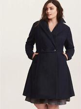 Torrid Jacket Swing Coat Outlander Claire Blue Navy Pockets Cosplay Plus 5 28