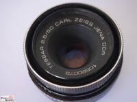 M 42 Gewinde 50mm 1:2,8 Carl Zeiss Jena Tessar Objektiv Lens M42