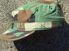 New 7 1/8  7.125 US Army Military Woodland Camouflage USGI Patrol Cap Hat Cover