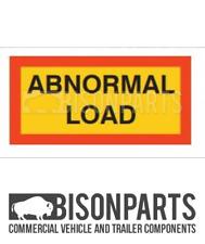 +TRUCK TRAILER TYPE 5 PAIR MARKER BOARD ABNORMAL LOAD SELF ADHESIVE BP76-186