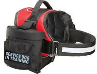 Doggie Stylz SERVICE DOG IN TRAINING Harness vest Removable Saddle Bags Backpack