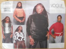 Vogue Sewing Pattern-Misses' TOP-Blouse-VARIATIONS-Size:8-12-Uncut-EASY