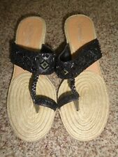 Coconuts Black Beaded Platfrom wedge slides size 7 (3806)