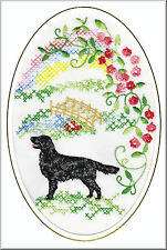 Flatcoated Retriever Rainbow Bridge  Embroidered by Dogmania