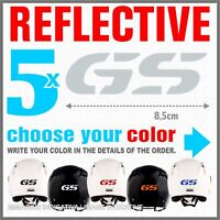 5x White Reflective GS ADESIVI PEGATINA R1200 1150 F800 F650 F700 BMW STICKERS