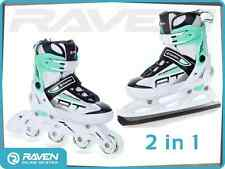 Ice Skating Boots Adjustable Shoes 2in1 INLINE SKATES S