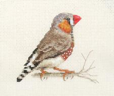 ZEBRA FINCH, Aviary Bird ~ Full counted cross stitch kit, all materials *Fido
