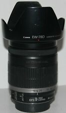 Canon EF-S 18-200mm f/3.5-5.6 IS lens + Canon EW-78D hood