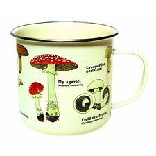 Gift Republic Mushroom Enamel Mug Vintage Style Coffee Cup Novelty Gift Idea