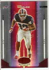 ERIC MOULDS MIRROR RED SN #/100 2004 LEAF CERTIFIED MATERIALS 15 BUFFALO BILLS