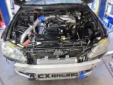 Intercooler Piping + Air Intake Kit For 98-05 Lexus IS300 2JZGE NA-T Black Hoses