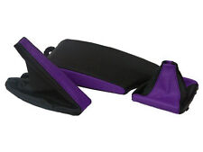 FITS BMW E36 E46 LEATHER ARMREST COVER&GAITERS BLACK PURPLE