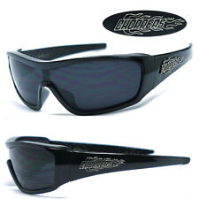 Mens Choppers Motorcycle Riding Outdoors Sports Fire Logo Sunglasses - Black C40