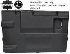 Bianco Stitch PORTELLONE PORTA CARD LTHR Copertura Per Land Rover Defender 90 03-17 3DR